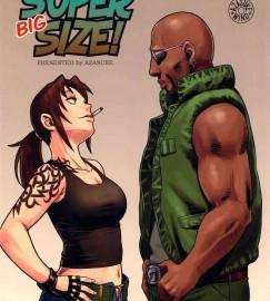 【BLACK LAGOON】巨乳美女のレヴィが酔っ払って黒人デカマラのダッチのチンポをツンツンしてフェラしちゃってますwwwwwデカチンに驚きながらも挿入されて生中出しされちゃってアヘ顔なってますwwwww【エロ漫画・同人誌】